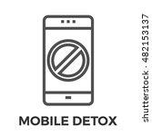 mobile detox thin line vector... | Shutterstock .eps vector #482153137