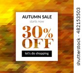 autumn sale background with... | Shutterstock .eps vector #482153503