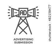 advertising submission thin... | Shutterstock .eps vector #482158477