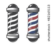 barber shop pole isolated on a... | Shutterstock .eps vector #482165113