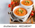 Tomato Soup With Croutons And...