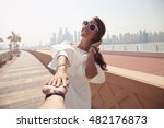 couple summer vacation travel.... | Shutterstock . vector #482176873