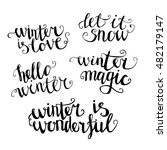 set of hand written words about ... | Shutterstock .eps vector #482179147