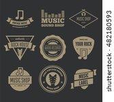 set of vector logotypes... | Shutterstock .eps vector #482180593