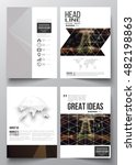 set of business templates for... | Shutterstock .eps vector #482198863