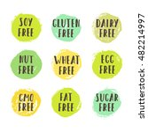 set of allergen free badges....