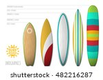 surfboards types. vector...