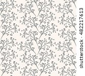 floral seamless pattern can be... | Shutterstock .eps vector #482217613