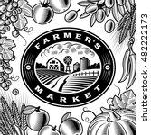 vintage farmers market label... | Shutterstock . vector #482222173