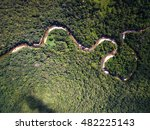 aerial view of river in... | Shutterstock . vector #482225143