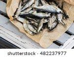Sun Dried Fish. Stock Fish On...