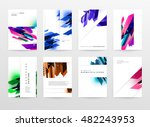 geometric background. template... | Shutterstock .eps vector #482243953