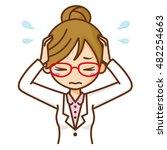 woman doctor sad. | Shutterstock .eps vector #482254663