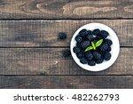 Close Up Of Ripe Blackberries...
