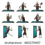 vector set of cartoon images of ... | Shutterstock .eps vector #482270407