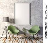 3d render of beautiful clean... | Shutterstock . vector #482292667
