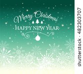 e card for happy new year and... | Shutterstock .eps vector #482303707