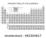 periodic table of the elements... | Shutterstock .eps vector #482304817