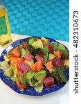 poke hawaii dish | Shutterstock . vector #482310673