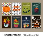 halloween posters set party... | Shutterstock .eps vector #482313343