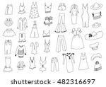 fashion hand drawn set | Shutterstock .eps vector #482316697