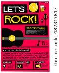 let's rock   flat style vector...   Shutterstock .eps vector #482319817