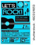 let's rock   flat style vector... | Shutterstock .eps vector #482319853