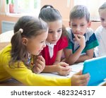 children  from elementary... | Shutterstock . vector #482324317