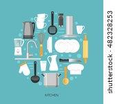 Kitchen Round Composition With...