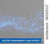 neon blue glittering star dust... | Shutterstock .eps vector #482329117