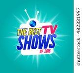 vector banner with best tv... | Shutterstock .eps vector #482331997
