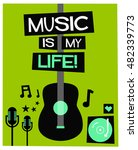 Music Is My Life   Flat Style...