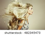 photo of beautiful woman with... | Shutterstock . vector #482345473