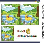 illustration   find the... | Shutterstock .eps vector #482349493