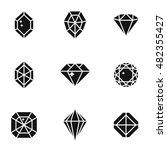 diamond vector icons. simple...