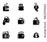 wallet  vector icons. simple...