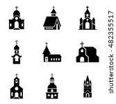 church  vector icons. simple...