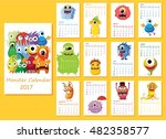 Calendar 2017. Cute Halloween...