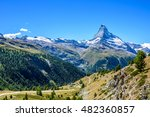 matterhorn   small village with ... | Shutterstock . vector #482360857
