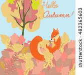 illustration of cute squirrel... | Shutterstock .eps vector #482365603