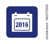 calendar icon vector 2016