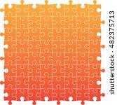 orange jig saw puzzle   Shutterstock .eps vector #482375713