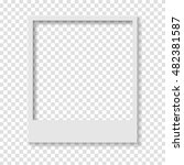 blank transparent paper photo... | Shutterstock .eps vector #482381587