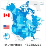 usa and canada large detailed... | Shutterstock .eps vector #482383213