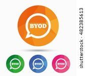 byod sign icon. bring your own... | Shutterstock .eps vector #482385613