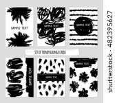set of printable creative cards ... | Shutterstock .eps vector #482395627