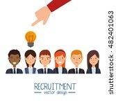 hand human resorces recruit...   Shutterstock .eps vector #482401063