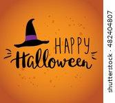 cute halloween invitation or...   Shutterstock .eps vector #482404807