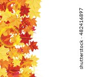 autumn  frame with maple leaves ... | Shutterstock .eps vector #482416897