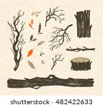 forest branches and tree trunks.... | Shutterstock .eps vector #482422633